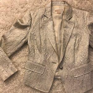Michael Kors Silver Paisley Blazer
